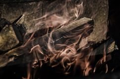 Burning fire flames Stock Photo