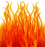 Burning fire flames, danger, vector illustration. Flammable element graphic design symbol Stock Photo