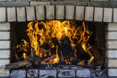 Burning fire flames Stock Photography