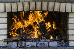 Burning fire flames Royalty Free Stock Photos
