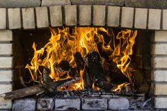 Burning fire flames Royalty Free Stock Images