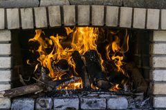 Burning fire flames Stock Images