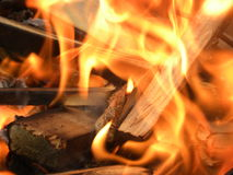 Burning Fire Flames Red Burning. Wood stock photography