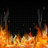 Burning fire flames on transparent background. Vector special light effect Royalty Free Stock Photos