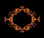 Burning fire frame Stock Photos