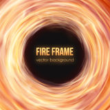 Burning fire frame. Vector Fiery Background Stock Photos
