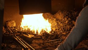The fire in the furnace of the blacksmith.