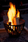 Burning Fire at night Stock Image