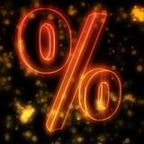 Burning fire percentage Royalty Free Stock Photo