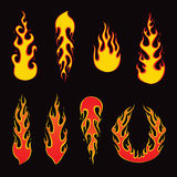 Burning Fire - Vector Illustration. Illustration of set of fire elements and burning fire. Editable vector Illustration Stock Photo