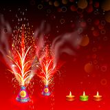 Burning Firecracker in Happy Diwali Royalty Free Stock Photography