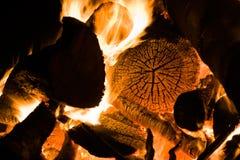 Burning fireplace Stock Photography