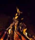 Burning fireplace. bonfire warmth fire Stock Image