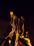 Burning fireplace. bonfire warmth fire Stock Images