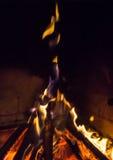 Burning fireplace. bonfire warmth fire Stock Photo