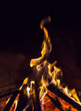 Burning fireplace. bonfire warmth object Royalty Free Stock Photos