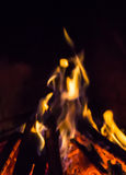 Burning fireplace. bonfire warmth texture fire Stock Image