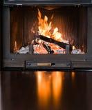 Burning Fireplace Stock Images