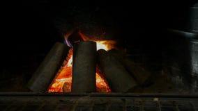 Burning Fireplace stock footage