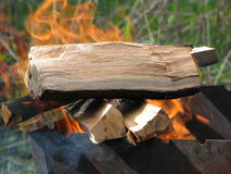 Burning firewood Stock Photos
