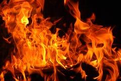 Burning Firewood XXXL Stock Photo