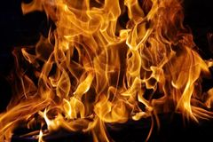 Burning Firewood XXXL Stock Photos