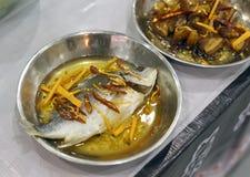Burning fish Stock Photo