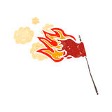 burning flag cartoon Stock Image