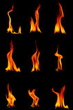 Burning Flame. Flame of plasma state of matter, has a variety of forms Stock Photo