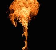 Burning flame Stock Image