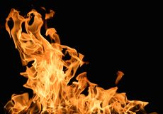 Burning flame Royalty Free Stock Photography