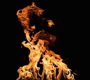 Burning flame Royalty Free Stock Image