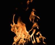 Burning flame Stock Photography