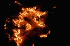 Burning flame Royalty Free Stock Photos