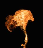 Burning flame Royalty Free Stock Photo