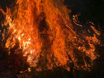 Burning flame fire inferno. Close details of burning flame fire inferno Stock Photo