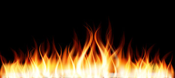 Burning Flame of Fire Royalty Free Stock Photography