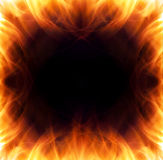 Burning flame frame Royalty Free Stock Photo