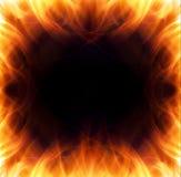 Burning flame frame Royalty Free Stock Photo