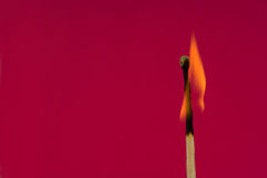 Burning Flame  Matchstick Stock Photos