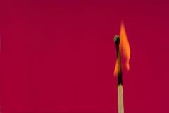 Burning Flame  Matchstick Stock Photos