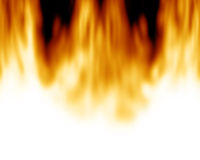 Burning flames Royalty Free Stock Image
