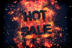 Burning flames and explosive sparks - HOT SALE Royalty Free Stock Images