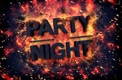Burning flames and explosive sparks - PARTY NIGHT Stock Images
