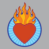 Burning flaming heart Royalty Free Stock Photography