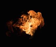 burning flamma Arkivfoto
