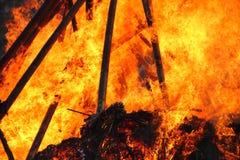 burning flamma Royaltyfria Bilder