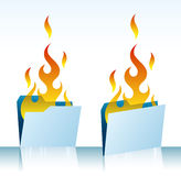 Burning folders Royalty Free Stock Photo