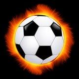 Burning football ball vector illustration