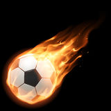 Burning football ball Stock Image